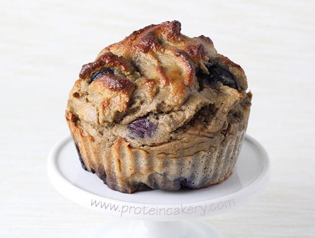 blueberry-protein-muffins