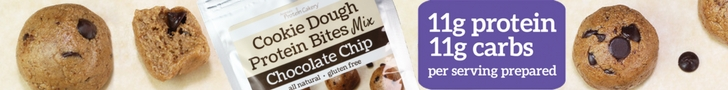 protein cakery chocolate chip cookie dough protein bites mix ad