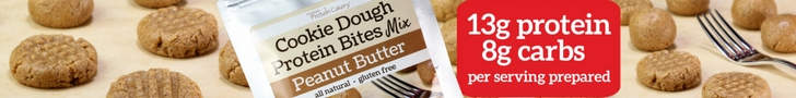 protein cakery peanut butter cookie dough protein bites mix ad