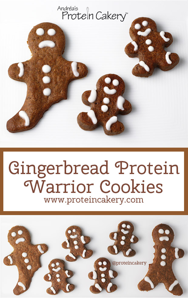 Gingerbread Protein Warrior Cookies - low carb, gluten free - Andréa's Protein Cakery