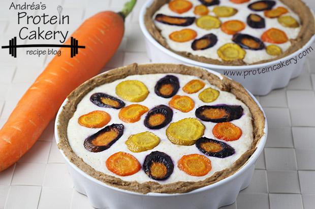 protein-cakery-rainbow-carrot-protein-ricotta-tarte
