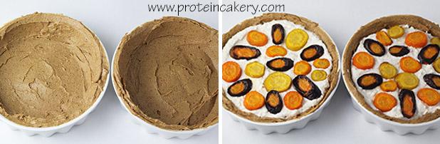 rainbow-carrot-protein-ricotta-tarte-crust