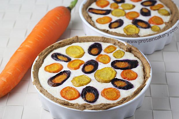 rainbow-carrot-protein-ricotta-tarte