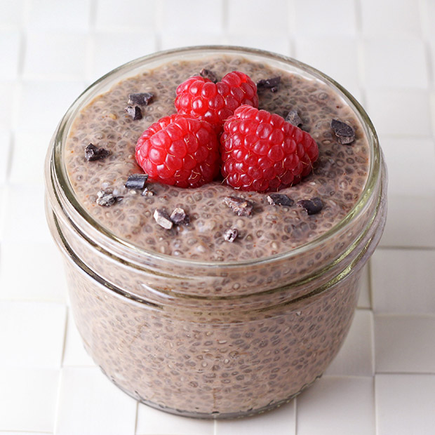 chocolate chia protein pudding protein cakery