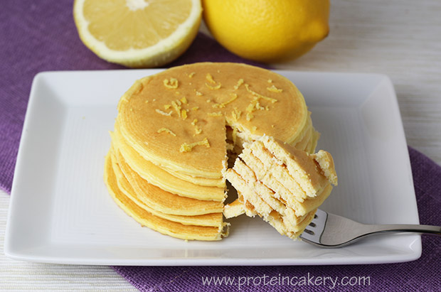 ... whey make these Lemon Ricotta Protein Pancakes quite filling, as well