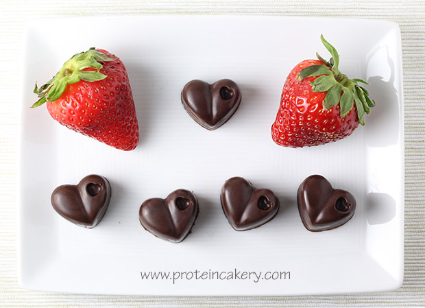 strawberry-filled-protein-chocolates-plate