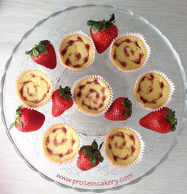 strawberry-protein-cheesecake-bites-platter