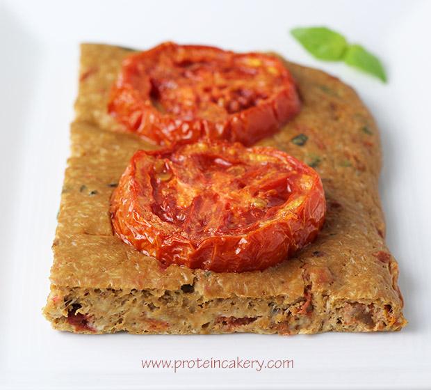 tomato-basil-protein-focaccia-bread