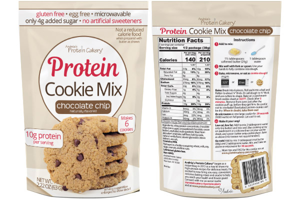 protein cookie mix chocolate chip