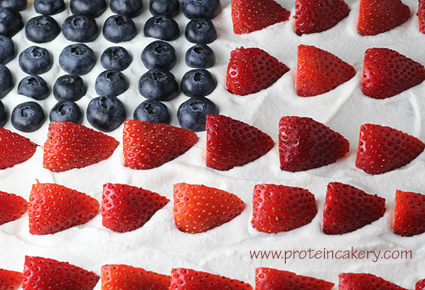 protein-flag-cake-blueberries