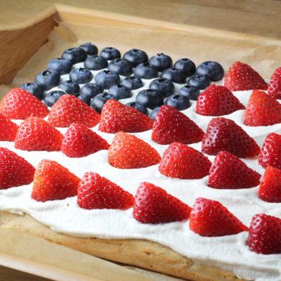 protein flag cake