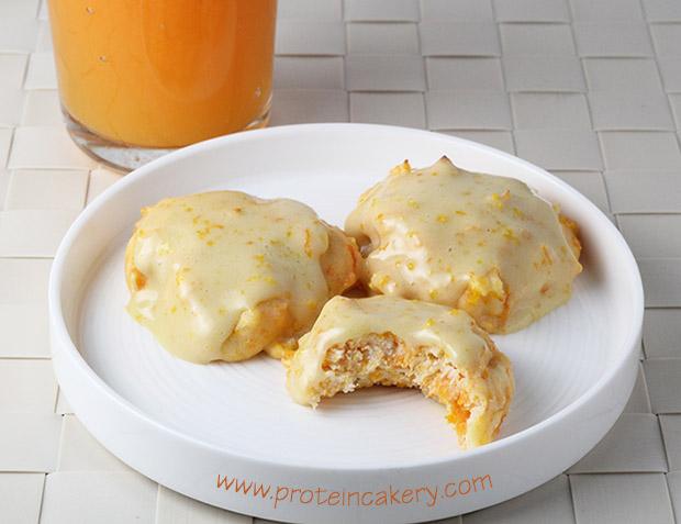 carrot-orange-protein-cookies