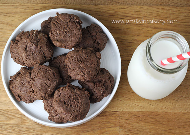 chewy-chocolate-protein-cookies-almond-butter