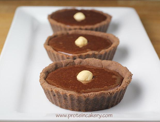 chocolate-hazelnut-protein-tartlets