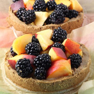 peach blackberry protein tart
