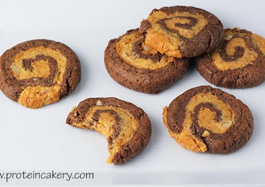 chocolate-peanut-butter-banana-pinwheel-protein-cookies