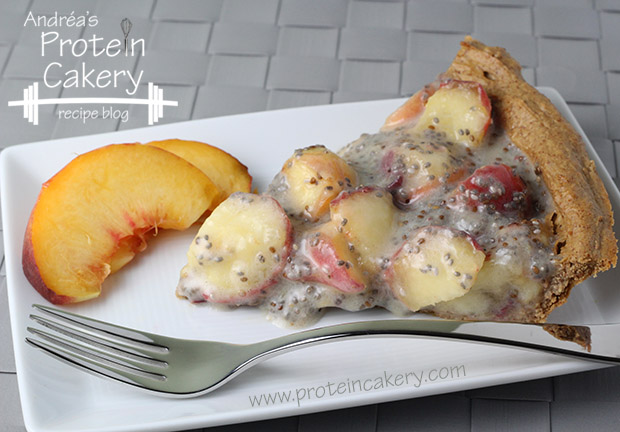 protein-cakery-peaches-and-cream-hazelnut-protein-pie