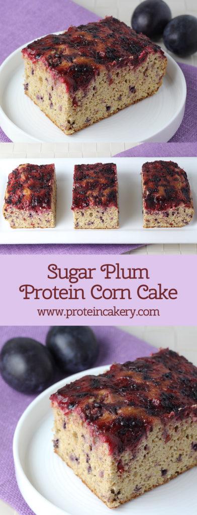 Sugar Plum Protein Corn Cake - low carb, gluten free