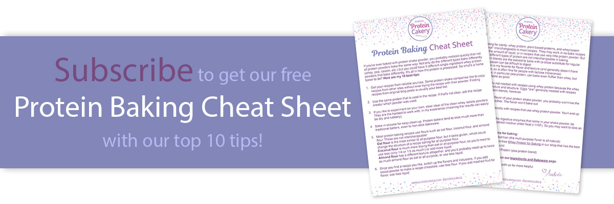 Protein Baking Cheat Sheet