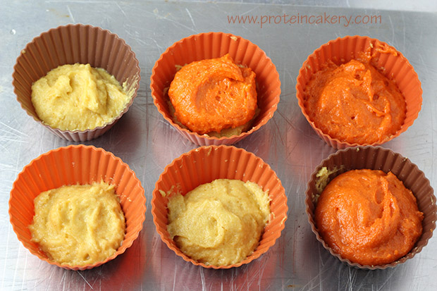 candy-corn-protein-cupcakes-layered