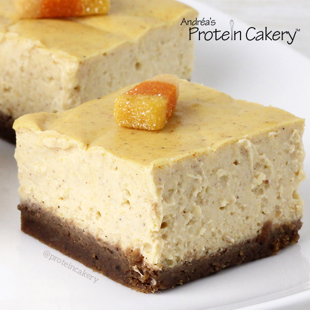 Pumpkin Protein Cheesecake Gingerbread Bars - Andréa's ...