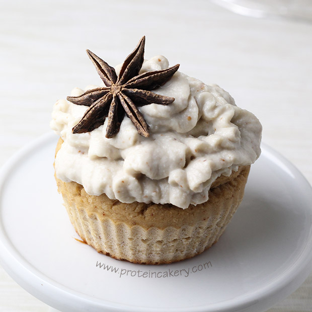 star-anise-pear-protein-cupcakes