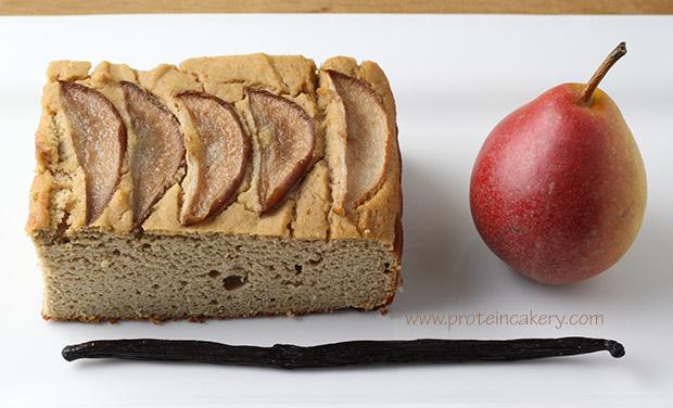 vanilla-pear-protein-cake