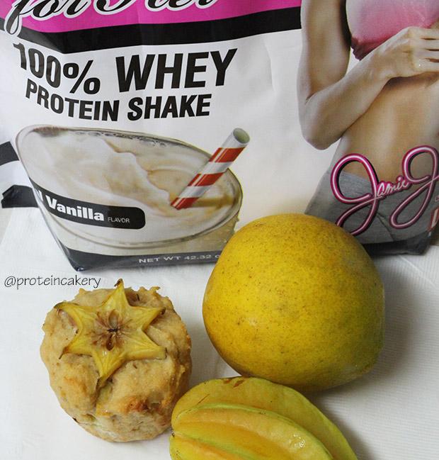 meyer-lemon-starfruit-protein-cupcakes-jamie-eason-whey-protein