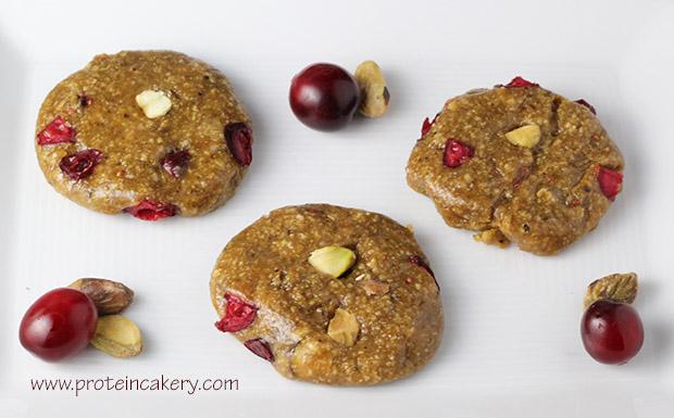 pistachio-cranberry-protein-cookies