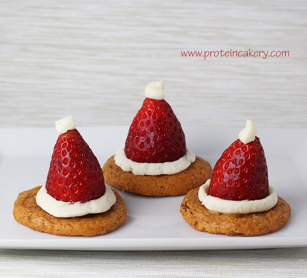 quest-strawberry-cheesecake-santa-hats