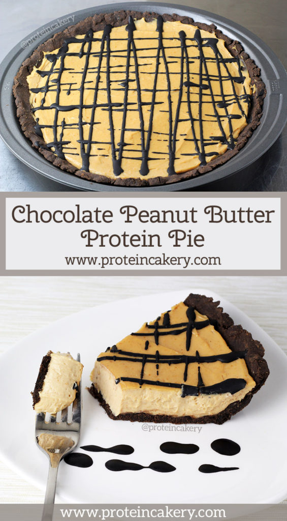 Chocolate Peanut Butter Protein Pie - low carb, gluten free - by Andréa's Protein Cakery