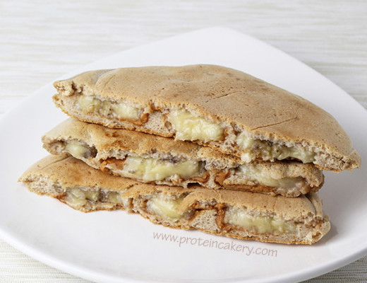 banana-peanut-butter-stuffed-protein-pancakes-grain-free