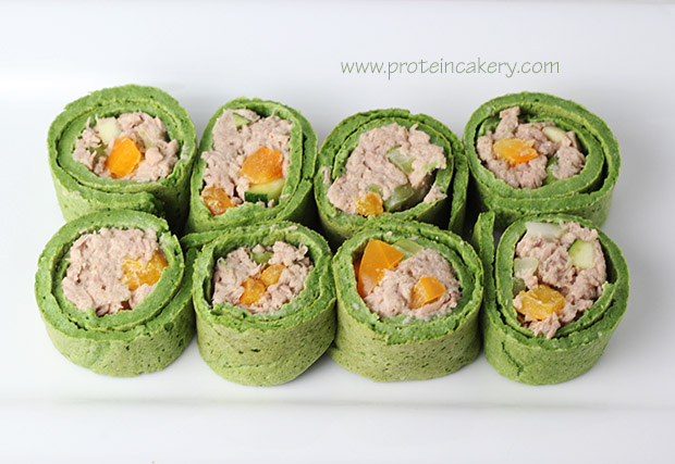 spinach-protein-wraps-tuna-salad-bites