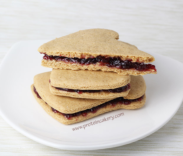 Peanut Butter & Jelly Protein Cookie Sandwiches - Andréa's ...