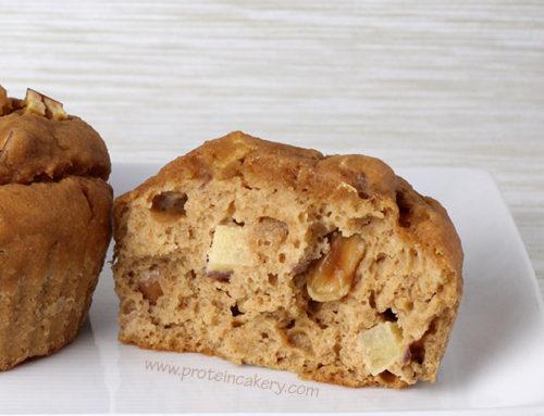 Apple Peanut Protein Muffins