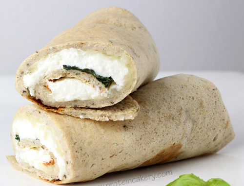 White Protein Pizza Wraps