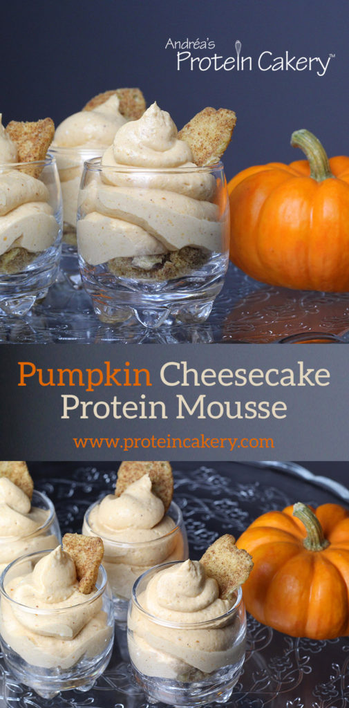 Pumpkin Cheesecake Protein Mousse - low carb