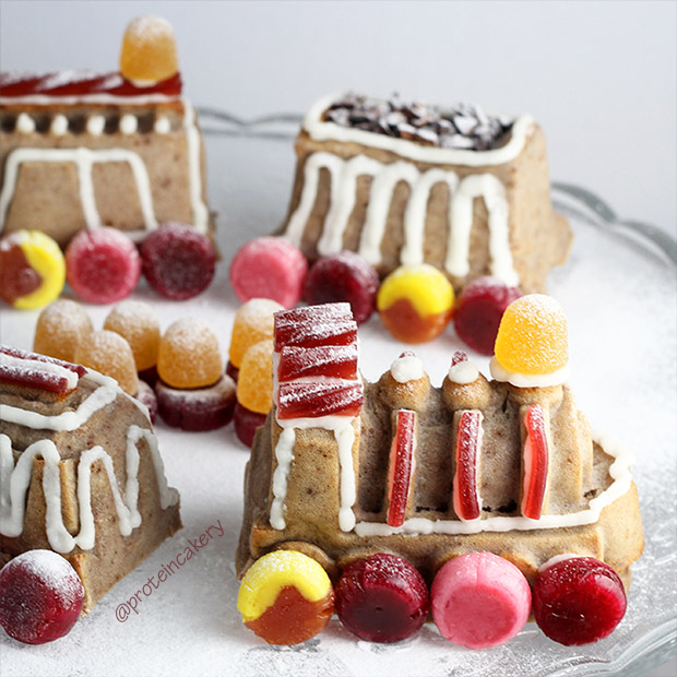 protein-gingerbread-train-cake-glutenfree