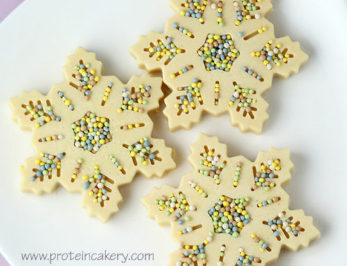 Peppermint White Chocolate Protein Snowflakes