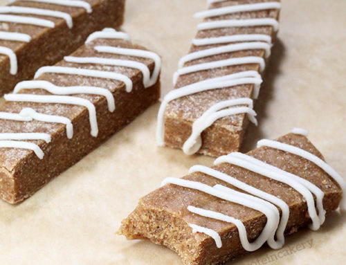Iced Apple Pie Protein Bars