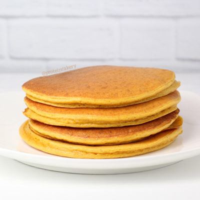 Pumpkin Protein Pancakes made with Whey Protein for Baking by Andréa's Protein Cakery