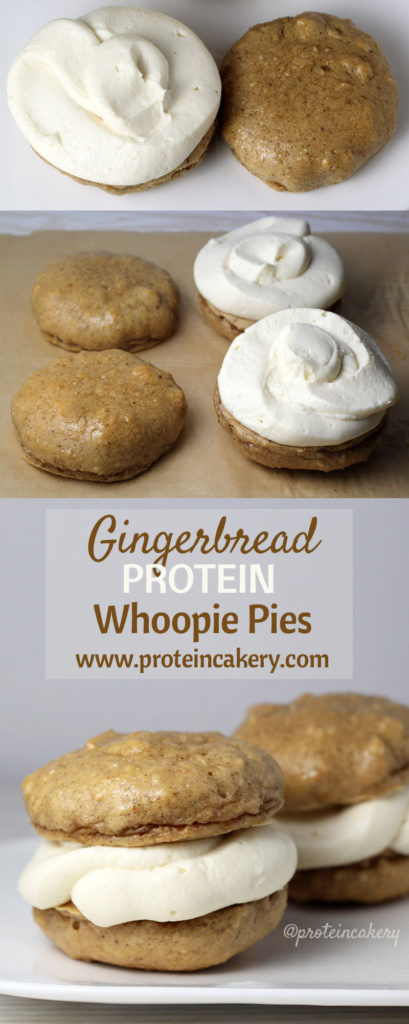 Gingerbread Protein Whoopie Pies - gluten free protein cookies by Andréa's Protein Cakery
