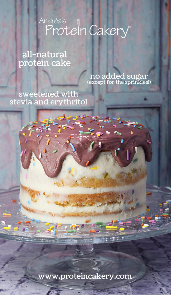 Protein Birthday Cake - all natural, gluten free, high protein - Andréa's Protein Cakery