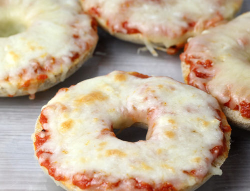 Protein Pizza Bagels