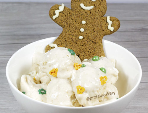 Gingerbread Protein Ice Cream with Natural Gingerbread Sprinkles