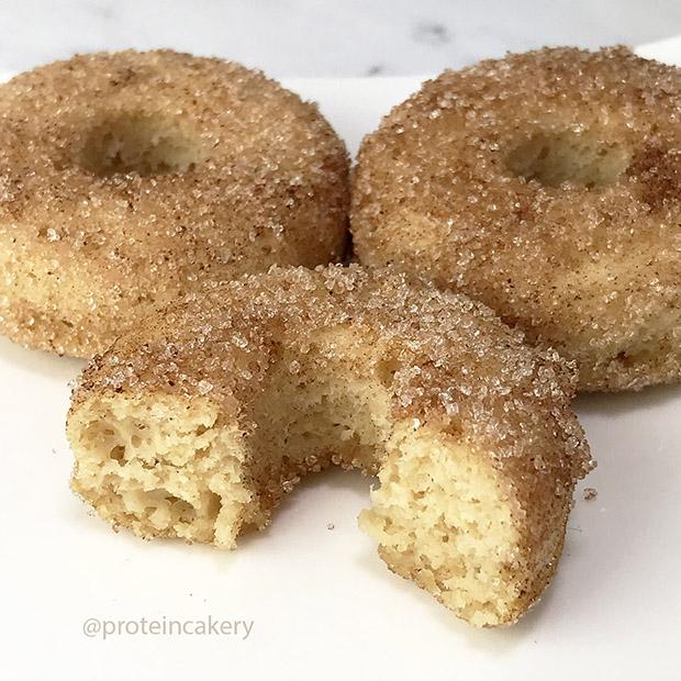 cinnamon protein doughnuts