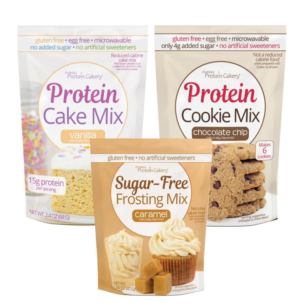 protein cake cookie frosting mixes