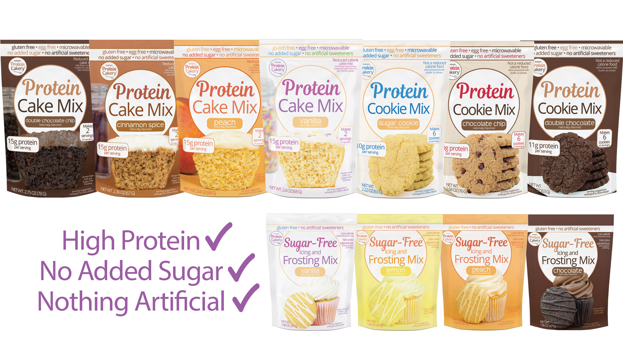 protein cakery products