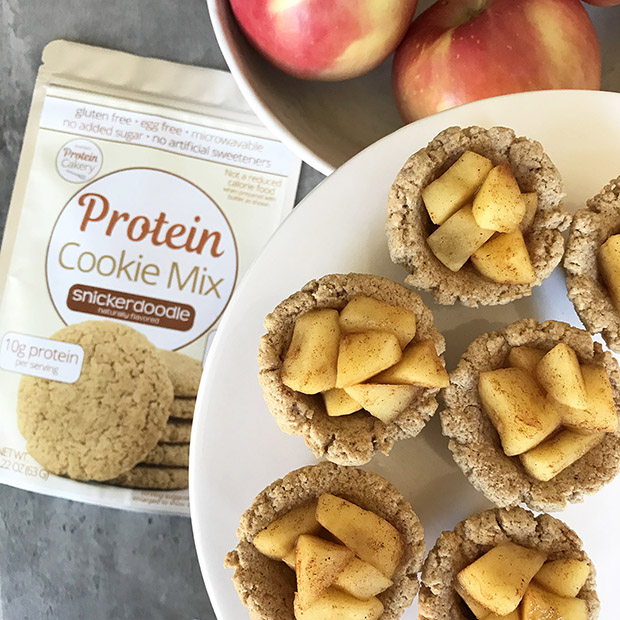 apple pie protein cookie cups