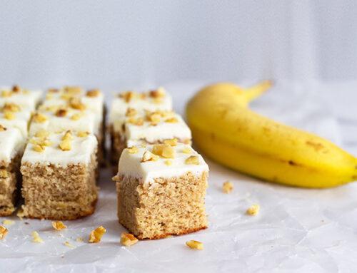 Banana Walnut Protein Cake Recipe